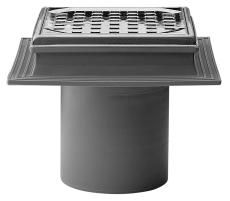 Maxiflex 110 mm afløbsskål til beton, uden studs, lodret