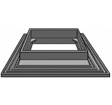 Maxiflex løs forhøjelsesramme med indstøbningsflange 30 mm