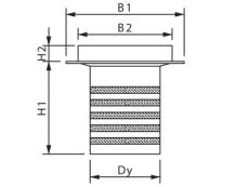 Wavin 110 x 50 mm gulvafløbsbrønd med top, komplet