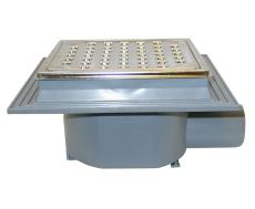 Maxiflex 75 mm afløbsskål til beton, uden studs, vandret