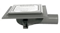 Purus miniMAX 50 mm afløbsskål til beton, u/studs, vandret,