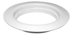 PURUS forhøjelse ø150/13 mm PP PURUS t/afl.skål hvid