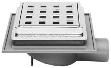 Maxiflex 32 mm afløbsskål til beton, uden studs, vandret, la