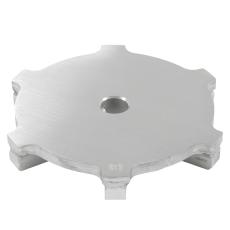 Spalterist circle-rist: ø173 mm-syrefast stål: aisi316l/en1.