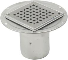 Blücher 110 mm afløbsskål til smøremembran, uden studs, lodr