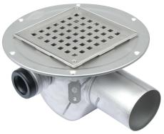 Blücher 75 mm afløbsskål til smøremembran, med sidestuds og