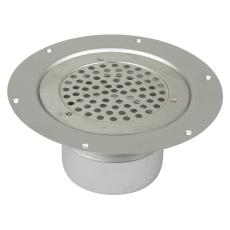 Boligafløb circle-gulv: vinyl-rist: ø155mm-udløb: ø110mm, lo