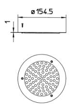 155 mm Blücher rund rist til vinyl