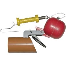 Napan 110 mm højvandslukke t/glatte PVC/PP-rør, gråt spildev