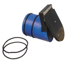 Rialet 110 mm tilbageløbsstop til PVC