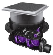 Kessel SWA 110 mm højvandslukke til gulv, gråt spildevand