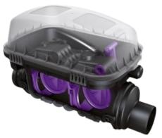 Kessel SWA 110 mm højvandslukke til brønd, gråt spildevand