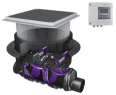 Kessel FKA 110 mm højvandslukke til gulv, sort spildevand