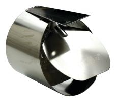 HF 160 mm rustfri rottespærre til PVC-rør, tilløb
