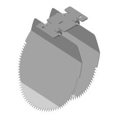 Nordisk Innovation løst spjæld til rottespærre 160 mm