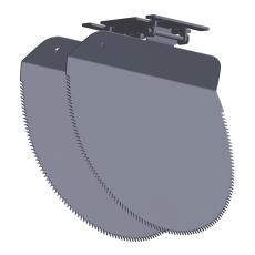 Nordisk Innovation løst spjæld til rottespærre 200 mm, beton