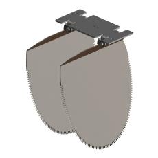 Nordisk Innovation løst spjæld til rottespærre 200 mm, PVC