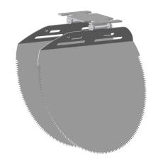Nordisk Innovation løst spjæld til rottespærre 250 mm, PVC