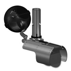 Nordisk Innovation 100/110mm rustfri rottespærre, flow