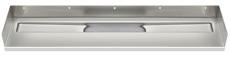 Unidrain 1200 mm rendeafløbsarmatur, venstre-bagvæg-højre