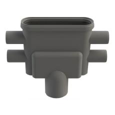 Unidrain 75 mm rendeudløb med vandlås og studs, lodret
