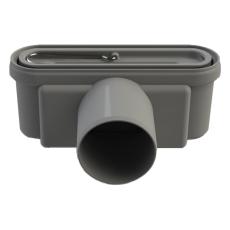 Unidrain 75 mm rendeudløb med vandlås, uden studs, vandret
