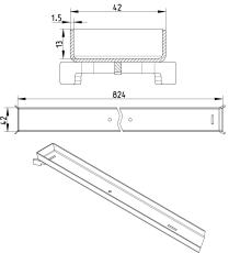 Rist LINE TOKYO 900- Rist: 42 x 824 mm- Rustfrit stål: AISI3