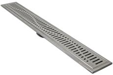 ACO 795 mm rendeafløbsarmatur med Wave rist, vægmonteret