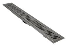 ACO 895 mm rendeafløbsarmatur med Flag rist, vægmonteret