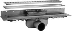 Purus Line sampak rist/ramme RIB 800mm, Ø50mm vandret udløb