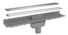 Purus Line sampak rist/ramme RIB 1000mm, Ø75mm lodret udløb