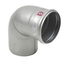 Ø 110 mm x 87,5° Bøjning rustfri AISI304/EN1.4301 Blücher