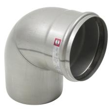 Ø 160 mm x 87,5° Bøjning rustfri AISI304/EN1.4301 Blücher