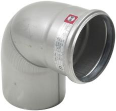 Ø 110 mm x 87,5° Bøjning syrefast AISI316L/EN1.4404 Blücher