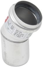 Ø 50 mm x 30° Bøjning rustfri AISI304/EN1.4301 Blücher