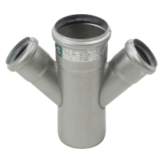 75 x 50 mm x 45° Grenrør dobbelt syrefast AISI316L Blücher