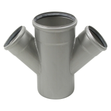110 x 75 mm x 45° Grenrør dobbelt syrefast AISI316L Blücher