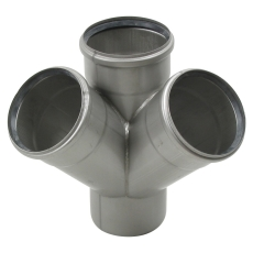 110 x 110 mm x 45° Grenrør dobbelt syrefast AISI316L Blücher