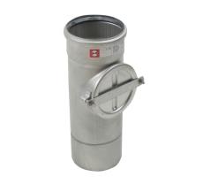 110 mm Rør med renseadgang rustfri AISI304/EN1.4301 Blücher