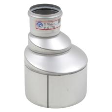 160 x 75 mm Overgang excentrisk rustfri AISI304/EN1.4301 Blü