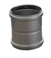 110 mm Dobbelt stikmuffe syrefast AISI316L/EN1.4404 Blücher
