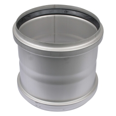 250 mm Dobbelt stikmuffe syrefast AISI316L/EN1.4404 Blücher