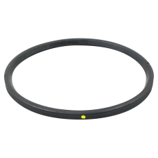 200 mm Læbepakning sort/gul NBR olie Blücher