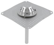Tagafløb til vakuum-tag: tagpap-flange: 400x400mm-udløb: ø40