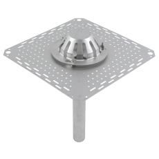 Tagafløb til vakuum-tag: tagpap-flange: 400x400mm-udløb: ø50