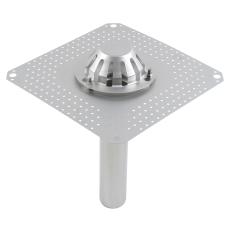 Tagafløb til vakuum-tag: tagpap-flange: 400x400mm-udløb: ø75