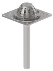 Tagafløb til vakuum-tag: tagfolie-flange: 280x280mm-udløb: ø