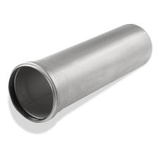 110 x 3000 mm Rør med muffe rustfri afløb AISI304 ACO