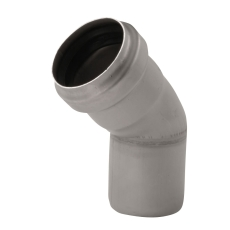 ACO 110 mm 45° rustfri afløbsbøjning, AISI 304