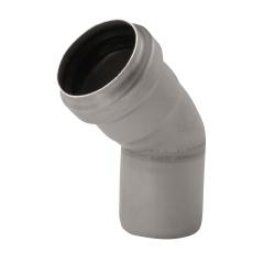ACO 110 mm 45° rustfri, syrefast afløbsbøjning, AISI 316